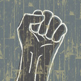 Fist - revolution symbol. Stock Images