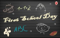 Fist school day. Paper vector with place for text Stock Photography