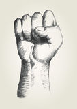 Fist. Sketch illustration of a right fist Royalty Free Stock Images