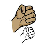 Fist sketch. Vector illustration : Fist sketch on a white background Royalty Free Stock Photo