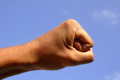 Fist and Sky Royalty Free Stock Images