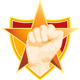 Fist with Star and Shield Royalty Free Stock Images