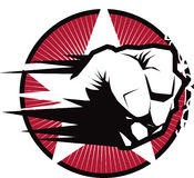 Fist Strike Emblem Stock Images