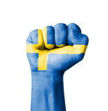 Fist of Sweden flag painted Stock Photography