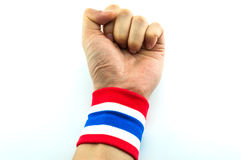 Fist of Thailand. Thailand patriotic concept Royalty Free Stock Images