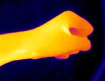 fist thermograph Στοκ φωτογραφία με δικαίωμα ελεύθερης χρήσης