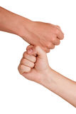 Fist to fist Royalty Free Stock Photo