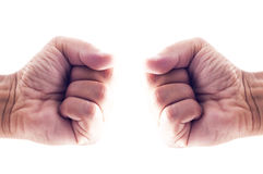 Fist to fist Stock Image