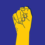 Fist to revolution concept Stock Photos