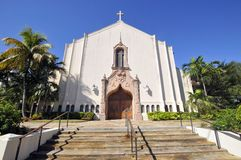Fist United Methodist Church. Of Coral Gables, Miami, Florida, USA Stock Photos