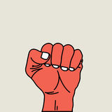 Fist vector illustration. Royalty Free Stock Images
