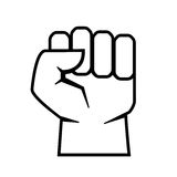 Fist vector outline icon Stock Photo