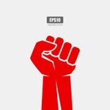 Fist vector poster Stock Photos