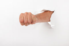 Fist through the wall Royalty Free Stock Image