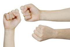 Fist on a white background Royalty Free Stock Photos