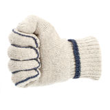 Fist in white glove Stock Photo