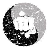 Fist Yin Yang Stock Image