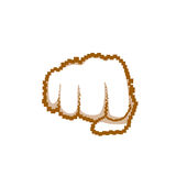 Fisted Hand Gesture People Emotion Icon Royalty Free Stock Photos