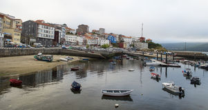 Fisterra Harbour Royalty Free Stock Photos