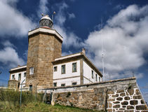 Fisterra lighthouse in Galicia Royalty Free Stock Photo