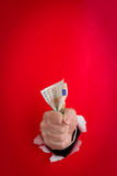 Fistful of money Stock Photography