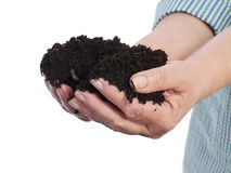 Fistful of soil Stock Image