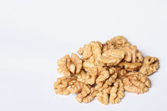 Fistful of Walnut Halves Royalty Free Stock Images