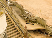 Fistral beach Newquay damage caused by storms Royalty Free Stock Images