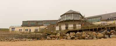 Fistral beach Newquay damage caused by storms Royalty Free Stock Photos