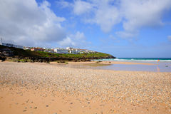 Fistral beach Newquay North Cornwall uk blue sky Stock Photos