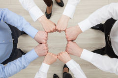 Fists group of businesspeople Stock Photo