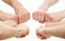 Fists group Royalty Free Stock Photography