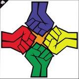 Fists set. martial arts emblem, symbol. Vector. Stock Photography