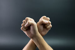 Fists up Stock Image