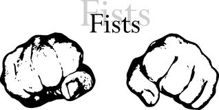 Fists vector Royalty Free Stock Images