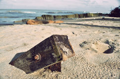 Fiszorek na plaży Obraz Royalty Free