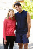 Fit, active couple outdoors Royalty Free Stock Image