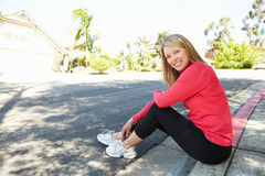 Fit, active woman outdoors Stock Photography