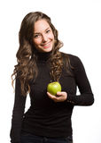 Fit apple beauty. Royalty Free Stock Image