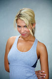 Fit athletic blond woman Royalty Free Stock Images