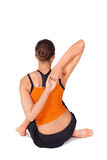 Fit Attractive Woman Practicing Yoga Stock Photo