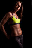 A fit attractive woman ready for a workout Royalty Free Stock Photo