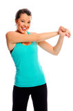 Fit attractive woman stretching Stock Photo