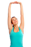 Fit attractive woman stretching Royalty Free Stock Photography