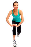 Fit attractive woman stretching Stock Images
