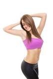 Fit beautiful young woman posing Stock Photos
