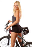 Fit Biker Woman Stock Photography
