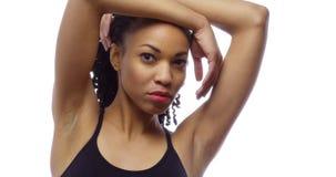 Fit black woman looking at camera Royalty Free Stock Photo