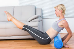Fit blonde woman working out Royalty Free Stock Photography