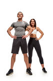 Fit bodybuilding couple Stock Images